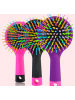 Fashion Rainbow Brush Perm Wave Straight Beauty Comb with Mirror